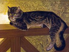 8 x 6 Art Deco Steinlen Summer Cat Ceramic Mural Backsplash Bath Tile #2368