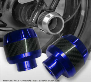 1 Pair Motorcycle Wheel Frame Crash Slider Fork Protector Caps CNC Aluminum -US