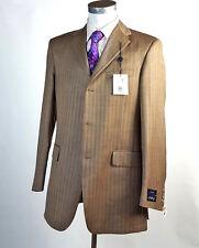 NEW $895 Coppley 40L Tall Silk  Wool Herringbone Sport Coat Brown 3 Btn NWT