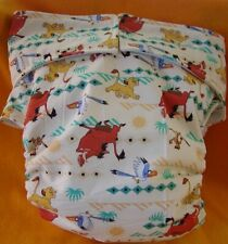 Adult New AIO Reusable Super Absorbent Cloth Diaper S,M,L,XL Simba, Pumba & Zazu