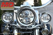 "7"" LED Projector Head Light Lamp Chrome fits Harley Davidson Daymaker Touring MD"