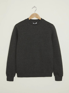 Peter Werth New Mens Loadstar Sweatshirt - Charcoal Marl