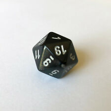 Chessex Borealis Smoke d20 Dice - OLD GLITTER - Rare! Out of Print! - PB2028