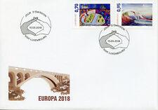 Luxembourg 2018 FDC Bridges Europa 2v Set Cover Bridge Architecture Stamps
