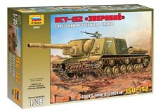 ZVEZDA 3532 SOVIET TANK DESTROYER ISU-152 WWII SCALE MODEL KIT 1/35 NEW