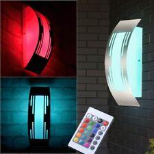 Design LED RGB Wandlampe 7 W Farbwechsler Fernbedienung LxBxH 31,8x10x9 cm Hof