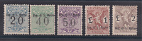 1924 SAN MARINO SEGNATASSE PER VAGLIA 5 VALORI SASSONE N°1-5  MNH** FIRM. DIENA