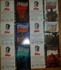 Lot of 6 artist James Bama Doc Savage Cover Proofs Pulp Bantam Paperback Robeson