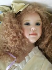 Susan Krey Wax Over Porcelain Art Doll Sweet Adeline W/leather Trunk New # 8/15