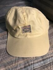 Vintage Polo Ralph Lauren Chino Country Cap Hat Sport Bear USA MADE Rare Yellow