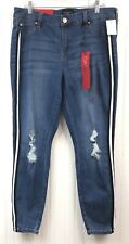 Celebrity Pink NWT Women's Size 14 Skinny Jeans Mid Rise Destructed Striped Side