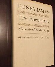 The Europeans, Henry James manuscript facsimile Edition, hardcover