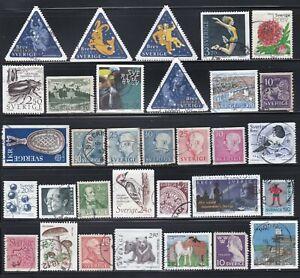 Sweden - 50 Different Stamps  (D)