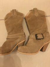 Ladies Suede Cowboy Boots - Size 37