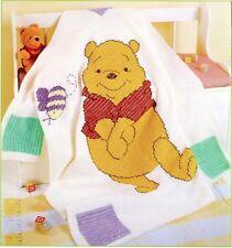 (820) Baby Blanket Afghan Crochet Pattern -Winnie the Pooh