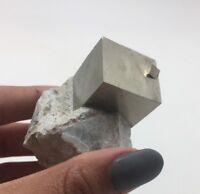 Perfect Pyrite In Matrix  From Navajún La Rioja Spain #MT-12.4