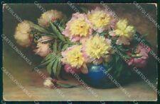 Artist Signed W. Schulze Flowers Meissner Buch serie 2330 cartolina XP8915