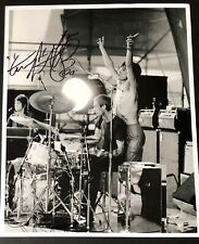SIGNED CHARLIE WATTS PHOTO THE ROLLING STONES RARE MICK JAGGER KEITH RICHARDS