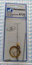 Viessmann H0 6726 Bausatz Bahnsteigleuchte, LED weiß