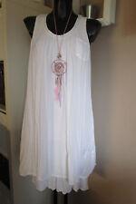 été hippie robe à paillettes vintage blanc extra-large aspect épaisseur IBIZA 36