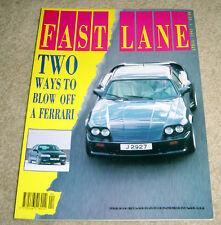 Fast Lane 04/91 A610 Turbo XJ-S Lister XJR 4.0 Rover 216 GTi 300 TE-24 960 Vogue