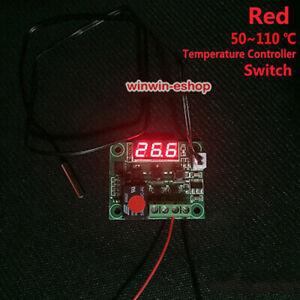 Red DC 12v Digital Temperature Meter Regler Module Switch Waterproof sensor