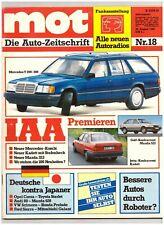 mot - Die Auto-Zeitschrift 18/1985 Opel Corsa/Toyota Starlet, Audi 80/Mazda 626