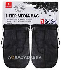 """Bolsas de medios de filtro de Mar Rojo (2 paquetes) 5""""x10"""" para tanque de arrecife Spec de carbono Peces Marinos"""