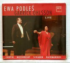 EWA PODLES, GARRICK OHLSSON - CHOPIN SCRIABIN RACHMANINOV - DUX CD STILL SEALED