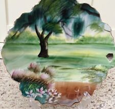 Vintage Hand Painted Landscape Plate Dish Made in Japan Sphinx New York