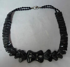 Victorian WHitby Jet & French Jet Collar Necklace 48cm x 2.8cm 29g A597617
