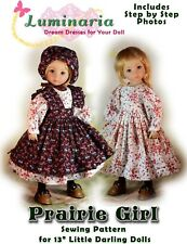 """Printed Dress Pattern for 13"""" Dianna Effner Little Darling My Meadow Avery Paola"""