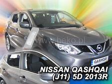 Heko derivabrisas Nissan Qashqai II j11 5 puertas a partir de 2013 4 piezas 24286