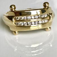 Mens 0.75 Ct Round Cut Diamond Unique Engagement Bands 14K Yellow Gold Finish