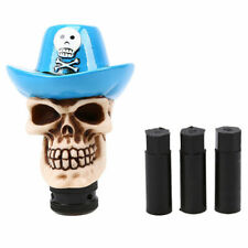 Universal Car Auto Manual Gear Stick Shift Knob Shifter Lever Hat Pirates Skull