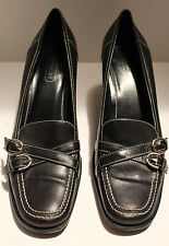 Womens COACH Leather High Heel Shoes Sz 8.5 B P356 Kristi F03 Made in Italy
