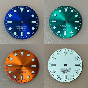 29mm Watch Dial Solar Pattern Green Luminous Dial for NH35A/NH36/4R36 Movement
