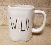 New Rae Dunn Magenta WILD HTF Coffee Mug White Shabby Primitive Farmhouse Gift