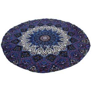 Bohemian Mandala Round Beach Tapestry Hippie Wall Hanging Throw Yoga Mat Towel