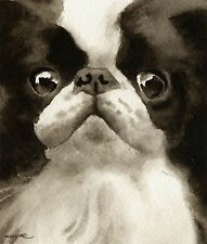 JAPANESE CHIN note cards by watercolor artist DJ Rogers