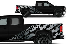 Vinyl Graphics Decal Wrap Kit for 2014-17 GMC SIERRA SHRED Crew Cab Truck Silver
