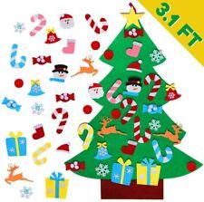 Hágalo usted mismo Set 26 un. Desmontable De Fieltro árbol de Navidad Adornos Niños Regalo Colgante De Pared