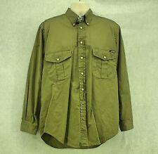 Cutter & Buck Men's Long Sleeve Button Down Shirt Olive Green Medium EUC