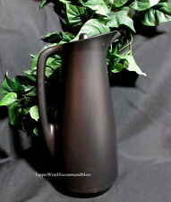 Tupperware New Hot Cold Serving Thermo Thermos Coffee Tea 1L Pitcher Black w Lid