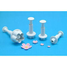 PME Plunger Cutters, Plastic, 4 Pc. Set: Flower Blossom