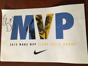 Elena Delle Donne Sky Signed 11x17 Poster Autograph Auto MVP