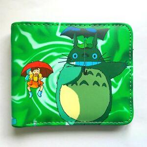 Studio Ghibli Totoro  Bifold Wallet Credit Card Holder Coin Purses Notecase Bag