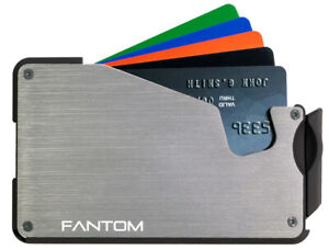 Fantom Wallet S 10 Silver Slim Minimalist RFID Aluminum Wallet With Coin Holder