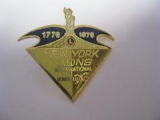 Lions Club Pin International 1776-1976 We Serve New York Honolulu Statue Liberty