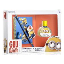 Minions Eau de Toilette Geschenkset Kinder Parfum 30ml plus Block, Stift ect.